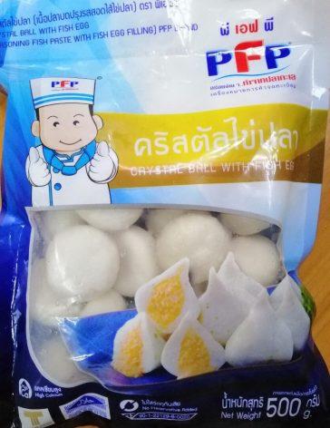 Bánh bao cá (nhím trắng nhân trứng cá)